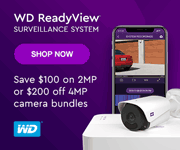 WDReadyView Surveillance System - Save $100 on 2MP or $200 off 4MP camera bundles - SHOP NOW