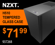 NZXT H510 Tempered Glass Case $71.99 Sku 937268
