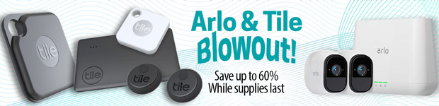 Arlo & Tile Blowout! Save up to 60%. While Supplies Last!