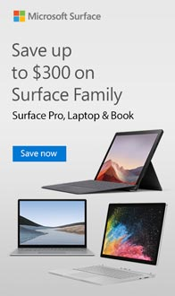 Save up to $300 on select Surface.