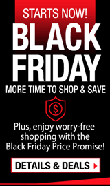 Black Friday. More Time to Shop & Save.