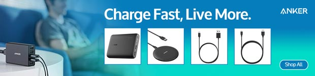 Charge Fast, Live More. Anker.