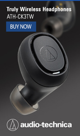 Truely Wireless Headphones. Audio-Technica