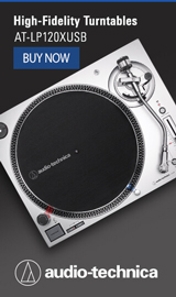 High-fidelity turntables. Audio-Technica