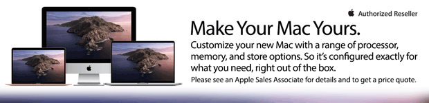 Customize Your Mac with a range of CPUs, memory & storage options.