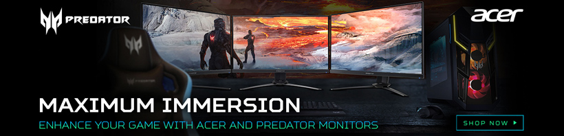 Acer and Predator Gaming Monitors. Maximum Immersion.