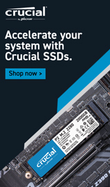 Crucial Memory. Accelerate your system with Crucial SSDs.