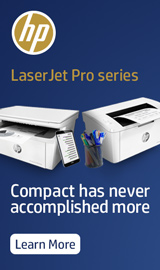 HP Laser Jet Pro Series. Compact has never accomplished more.
