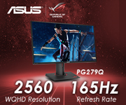 ASUS PG279Q Monitor; 2560 WQHD Resolution; 165Hz Refresh Rate - Shop Now