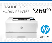 HP LaserJet Pro M404N Printer - $269.99. SKU 932020