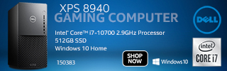 Dell XPS 8940 Gaming Computer; Intel Core i7 10700 2.9 GHz; 512GB SSD; Windows 10 Home; Sku 150383; Shop Now