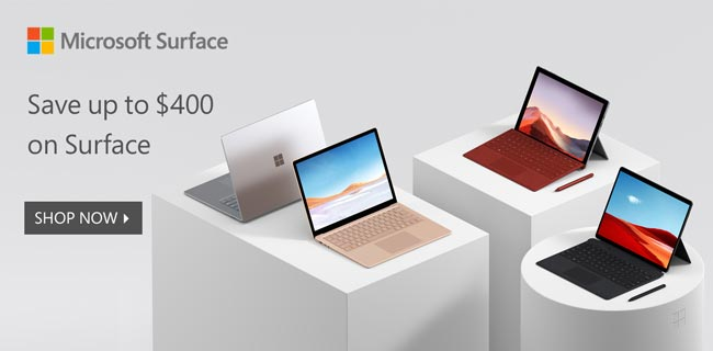 Save up to $400 on Surface - SHOP NOW