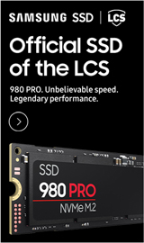Samsung SSD. Official SSD of the LCS. 980 Pro NVMe