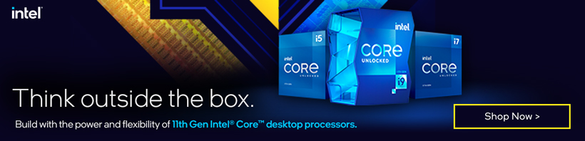 Think outside the box. Build with the power and flexibility of 11th gen Intel Core CPUs.