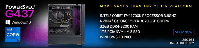 PowerSpec G437 Gaming Desktop PC