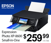 EPSON Expression Photo XP-8600 Small-in-One - $259.99; SKU 141788