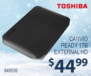 Toshiba Ready 1TB Internal HD - $44.99; SKU 849539