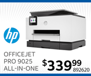 HP OfficeJet Pro 9025 All-in-One - $339.99; SKU 892620