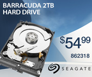 Seagate Barracuda 2TB Hard Drive; $54.99; sku 862318