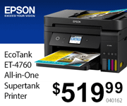 Epson EcoTank ET-4760 All-In-One Supertank Printer - $519.99 - SKU 040162