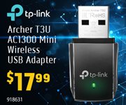 TP-Link Archer T3U AC1300 Mini Wireless USB Adapter - $17.99; 918631