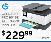 HP OfficeJet Pro 9015E All-In-One Printer - $229.99; SKU 209072