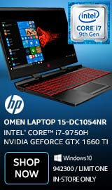 "HP OMEN 15-dc1054nr 15.6"" Gaming Laptop Computer"