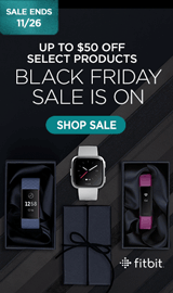 Black Friday Fitbit Sale. Save up to $50 on select Fibits.