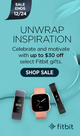 Holiday Fitbit Sale. Save up to $40 on select Fibits.