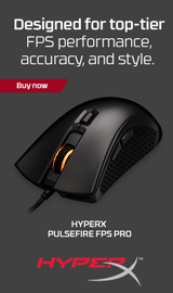 Designed for top-tier FPS performance, accuracy, and style. HyperX