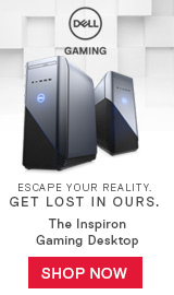Escape your reality. Get lost in ours. The Inspirion Gaming Desktop