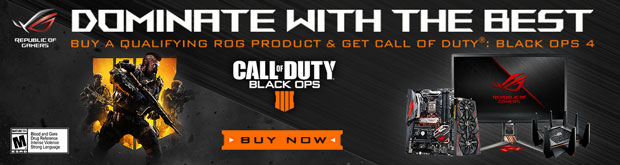 Dominate with the best. Buy a qualifying ROG product and get Call of Duty Black Ops 4