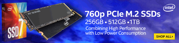 Intel 760p & 545s Series SSD Drives.