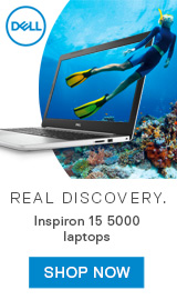 Real Discovery. Dell Inspiron 15 5000 laptops.