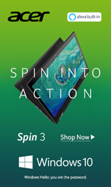 Acer Spin 3. Spin into action.