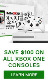 Save $100 on Xbox One console systems.