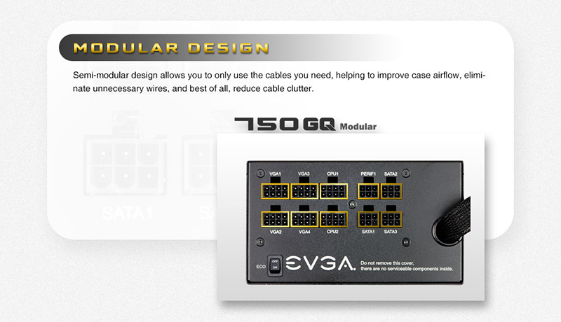 EVGA 750 Modular Air Design Image