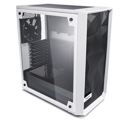 The Meshigy C side view showing  tempered glass side panel