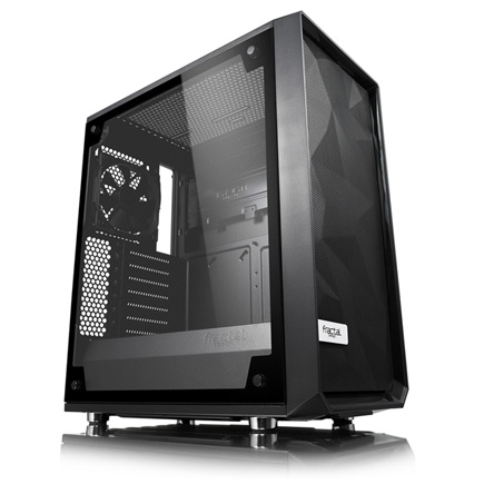 The Meshify C case with transparent side panel