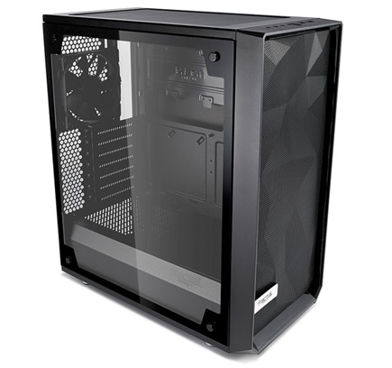 The Meshigy C side view showing tinted tempered glass side panel