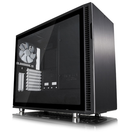 The Define R6 case with transparent side panel