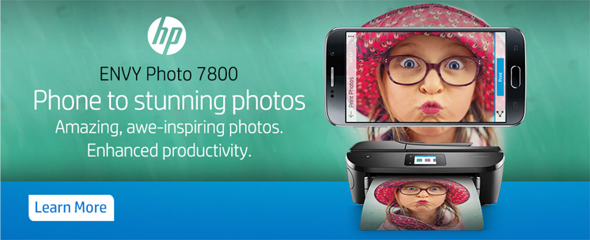 HP ENVY Photo 7800: Phone to Stunning Photos. Amazing, awe-inspiring photos. Enhanced Productivity. Shop Now