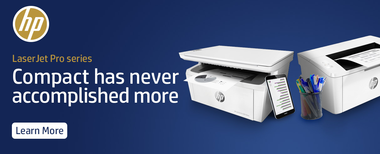 HP Laserjet Pro Series. Compact has never accomplished more