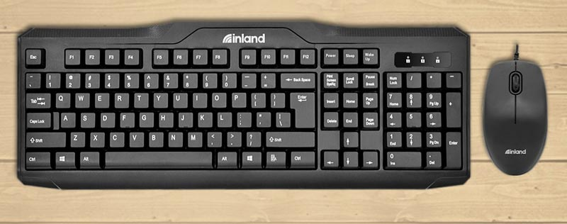 Image of Inland ic100 Keyboard and mouse