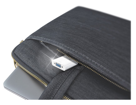 Adapture pictured in a small zippered pouch.