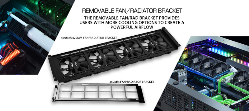 Removeable fan or radiator bracket