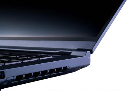 MainGear Element Gaming Laptop side vents