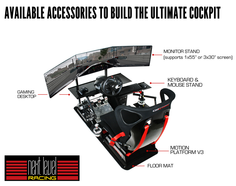 Next LEvel Racing Flight Stand with Accessory call outs