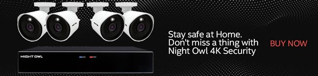 Stay safe at home. Don't miss a thing with Night Owl 4K security.