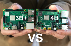Raspberry Pi 3B+ vs. 4B board